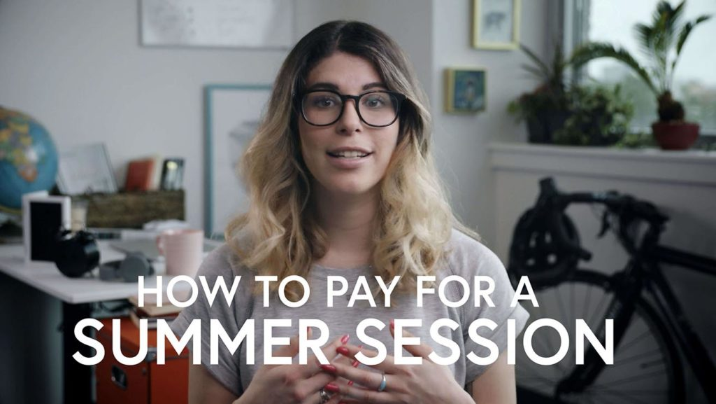 How to pay for a summer session
